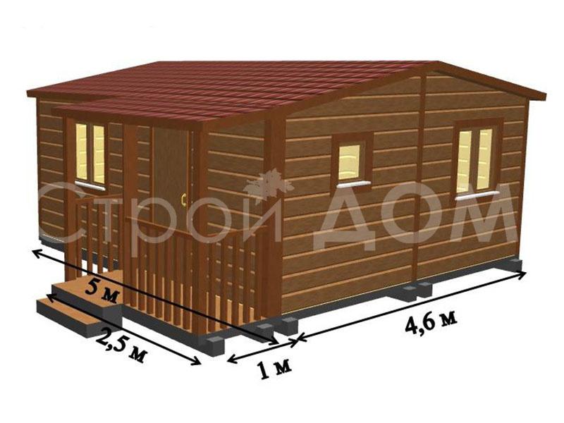 """Схематичное расположение комнат в садовом домике """"АВАНГАРД"""". Строительная Компания в Клину, Конаково, Солнечногорске недорого."""