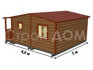"""Планирование комнат в садовом домике """"АВАНГАРД"""" по желанию Заказчика. Строительство в Клину."""