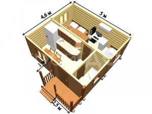 """Схема садового домика """"АВАНГАРД"""" от производителя бытовок в Клину."""