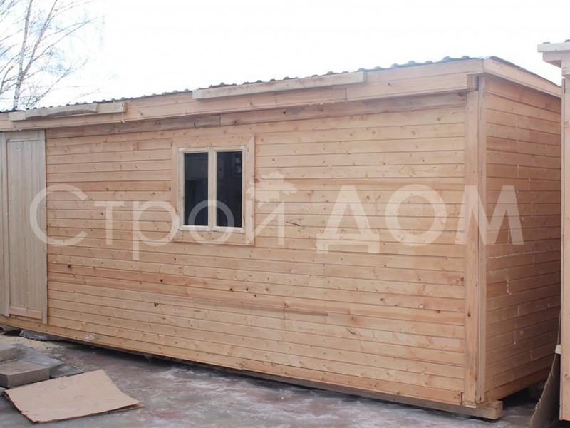 Бытовка 6 метров из дерева для дачи. Низкие цены от производителя в Клину.