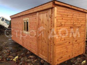 Деревянная бытовка 6 метров в наличии и на заказ. Доставка в любой город Московской области недорого.