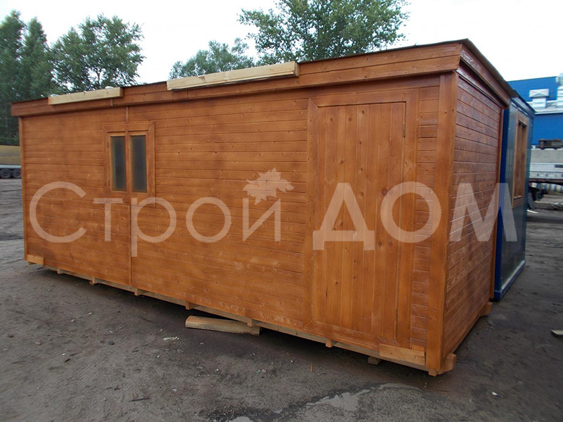 Бытовка деревянная 6 метров в наличии и на заказ недорого.