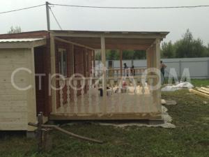 Бытовка с пристроенной верандой на участке в Клину, Конаково, Солнечногорск. Недорого.