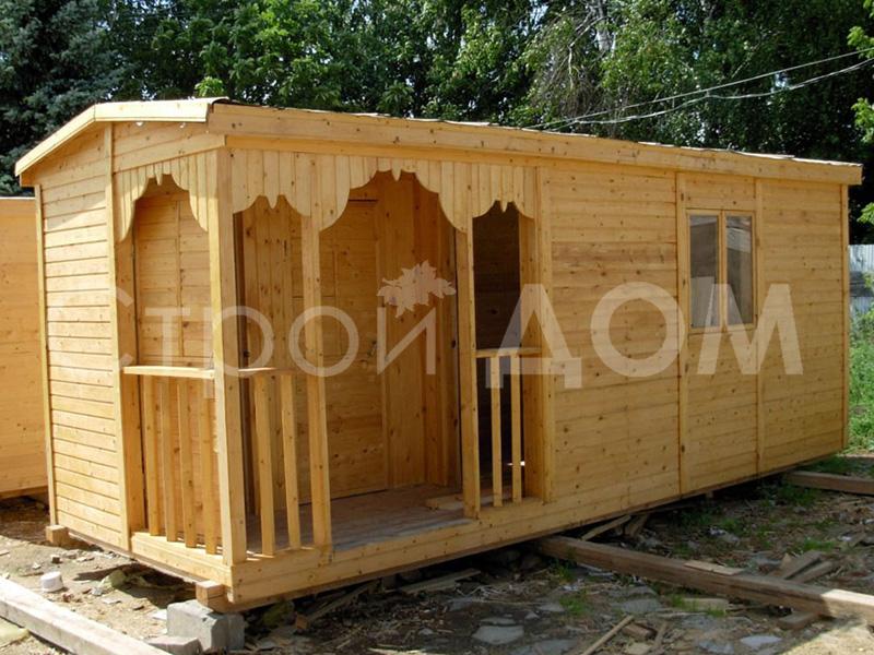 6 метровая бытовка с верандой и туалетом в Солнечногорске, Конаково, Клин. Качество и гарантия 1 год.
