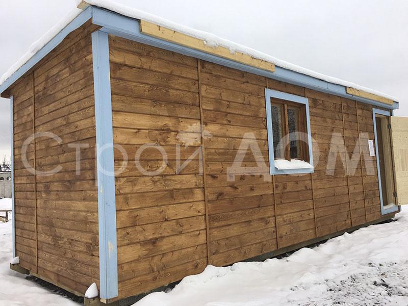 """Крашенная утеплённая бытовка """"ФАВОРИТ"""" в Клину, Конаково, Солнечногорске недорого."""