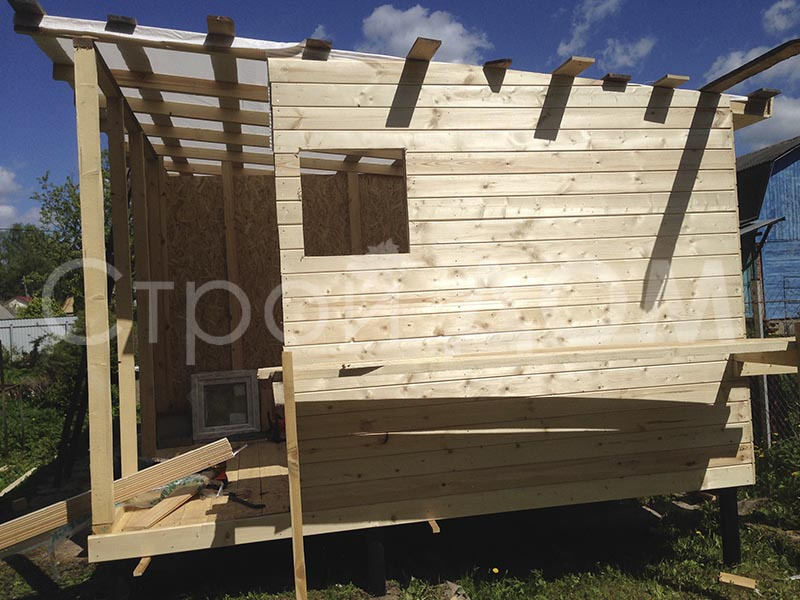 """Дачная бытовка-домик """"ХОЗЯИН"""" недорого. Строительство на участке в Клину."""