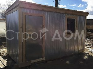Бытовка металлическая для дачи на Вашем участке в Клину, Солнечногорске или Конаково. Доставка быстро.