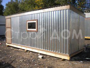 Бытовка 6 метров металл профнастил недорого в Московской области.