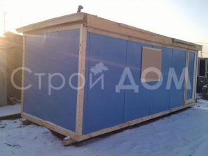 Железная бытовка Эконом 6 метров в Клину с доставкой по Московской области.