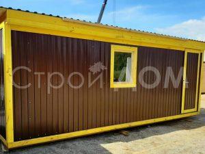 Металлическая бытовка 6 метров крашеная. Доставка по всей Московской области.
