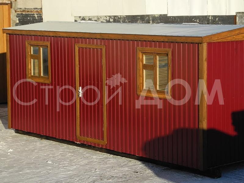 Металлическая бытовка распашонка 6 метров в Московской области от производителя.