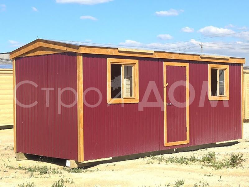 Крашеная металлическая бытовка 6 метров для дачи в Клинском, Солнечногорском и Конаковском районах недорого.