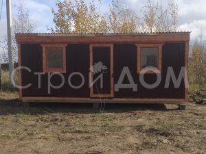 Металлическая железная распашонка бытовка 6 метров длиной от производителя в Клинском районе недорого.