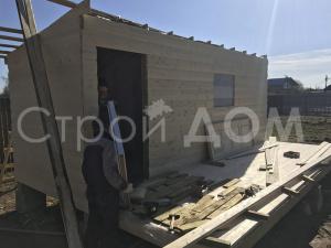"""Дачный домик блок-хаус """"МИРАЖ"""" в Клину. Каркасное строительство."""