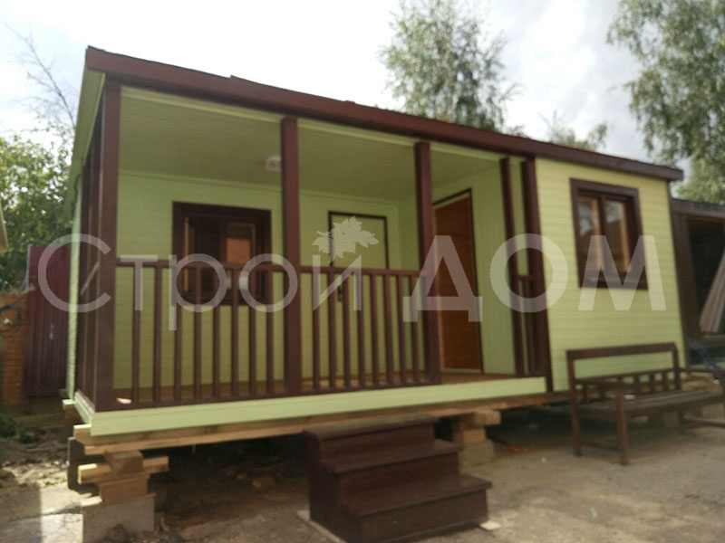 """""""ПРОТЕКТ""""- садовый дачный домик тёплый на заказ. Строительство на участке."""