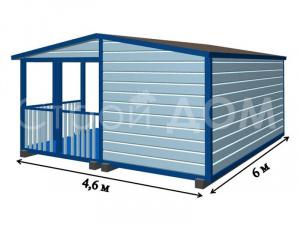 """""""ФАКТУРА""""-садовый домик 6 метров с утеплением в Клину. Заказать строительство."""