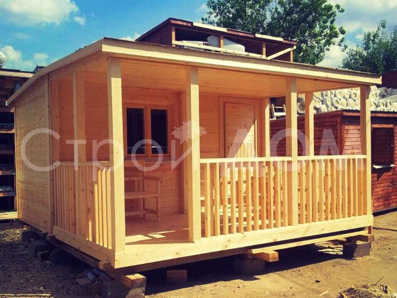 """Бытовка или садовый , дачный домик """"ФИДЖИ"""" тёплая. Каркасное строительство в Клину недорого."""