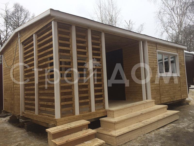 """""""КАНТРИ""""-это дачный садовый домик с утеплением. Строительство Клин недорого."""