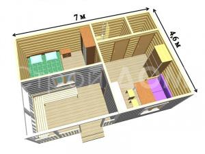"""""""КАНТРИ""""-домик с утеплением для дачи в Подмосковье. Строительная Компания в Клину."""