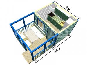 """Садовый домик """"КАПРИЗ"""" с индивидуальной планировкой и премиум отделкой недорого в Клину."""