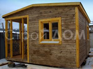 """Домик садовый """"КЕНТУКИ"""" на 4 метра с утеплением и покрасом в Клину. Заказать строительство домика для дачи."""