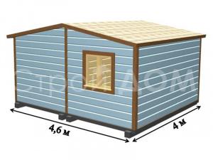 """Схема планировки садового домика """"КЕНТУКИ"""" на 4 метра от производителя бытовок в Клину."""