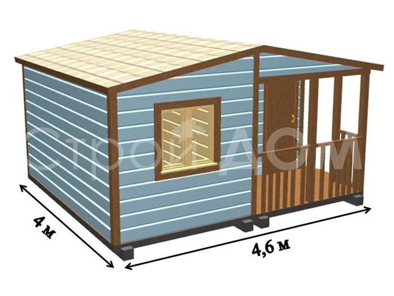 Домик дачный для сада на участке в Московской области недорого.