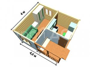 Садовый домик с проектом в короткие сроки. Каркасное строительство в Клину, Солнечногорске, Конаково недорого.