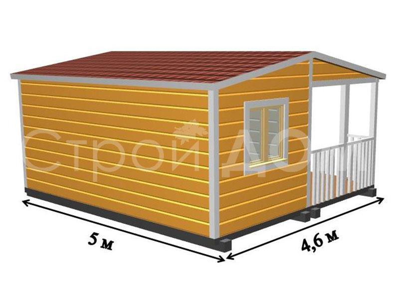 Домики для дачи в наличии и на заказ недорого. Каркасное строительство бытовок в Клину, Солнечногорске, Конаково.