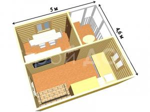 Садовый домик с планировкой от производителя. купить бытовку недорого.