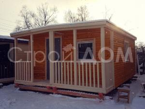 """Садовый домик с утеплением в покрасе """"МИНИДОМ"""" от производителя. Строительная Компания Клин."""