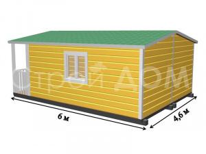 """Схема-план домика """"МИНИДОМ"""" крашенный. Строительство на участке в Клину."""