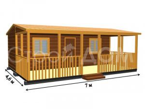 """Домик садовый """"РЭНДИ"""" с покрасом в утеплённом варианте. Строительство на участке в Московской области."""