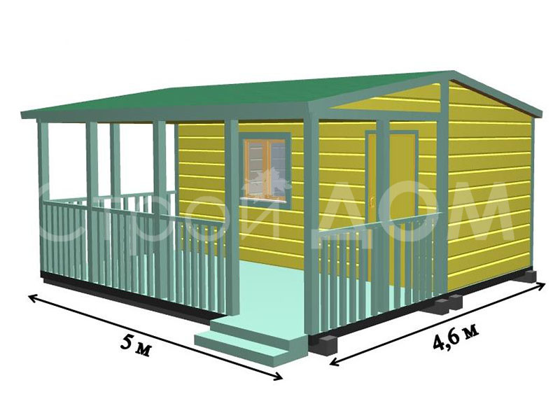 """""""ТЕХАС""""-домик садовый на Вашем участке в Московской области по низкой цене."""