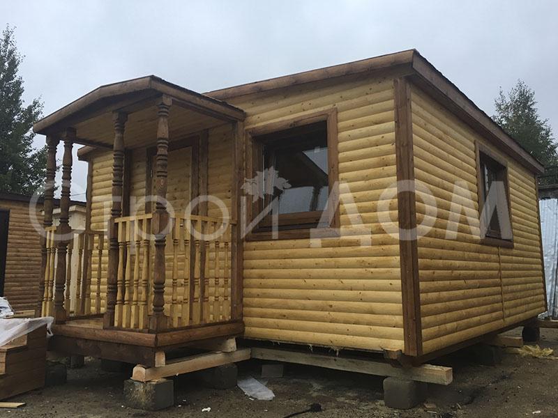 """Домик на даче в Подмосковье """"СИМВОЛ"""" по низкой цене. Каркасное строительство в Клину."""