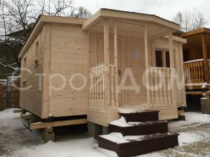 """Крашенный садовый домик """"СИМВОЛ"""" с утеплением. Строители профессионалы в Клину, Конаково, Солнечногорск."""