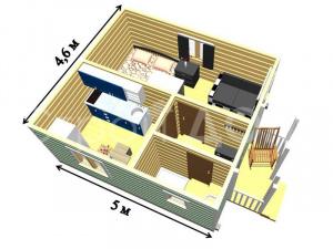 """Домики с индивидуальной планировкой """"СИМВОЛ"""" в Клину. Заказать строительство на участке."""