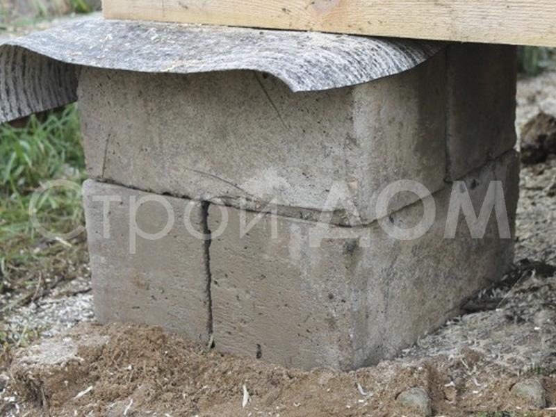 Блок фундаментный для дачной бытовки недорого.