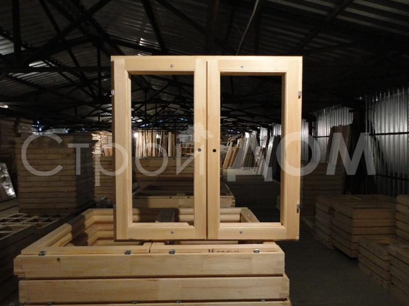Деревянное окно в бытовке на заказ. Производство в Клину.