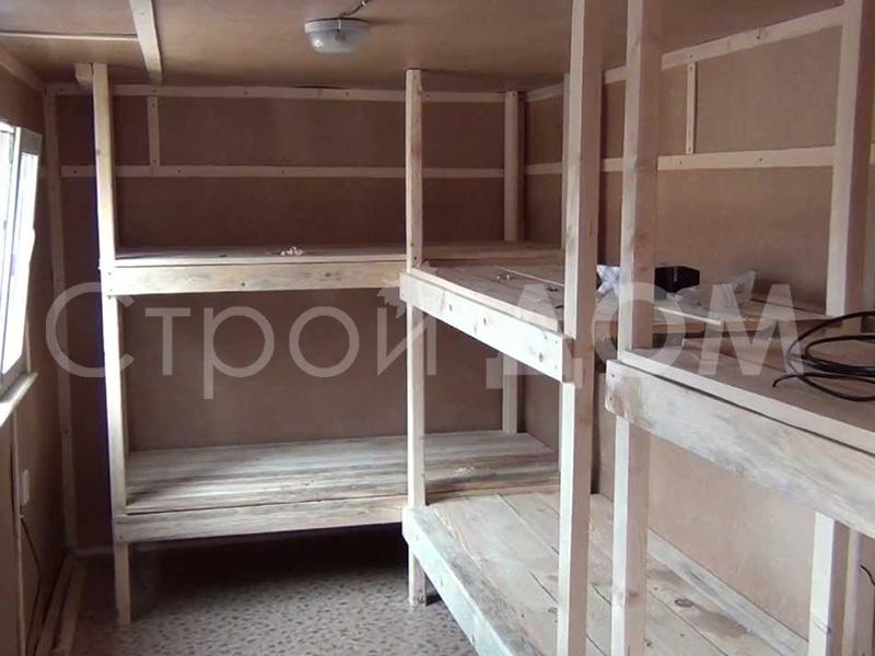Организация деревянных лежаков в бытовке на заказ от производителя в Клину.