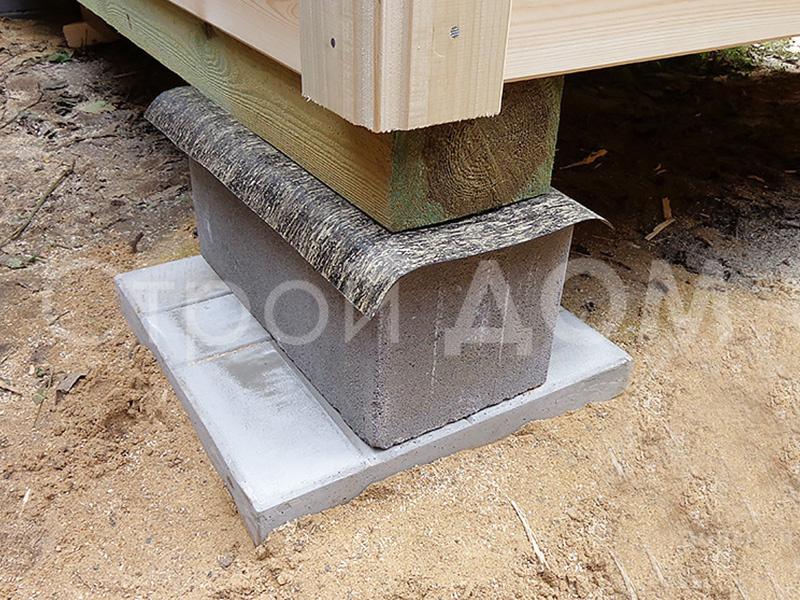 Плитка для фундамента от производителя бытовок в Клину.