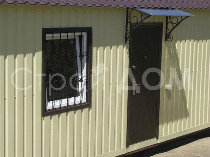 Стальная решётка на окнах бытовки. Бытовка Клин по низкой цене.