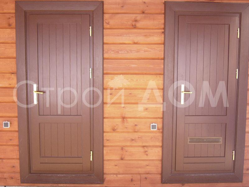 Дверь стальная на вход бытовки для дачи. Клин Бытовка от производителя.