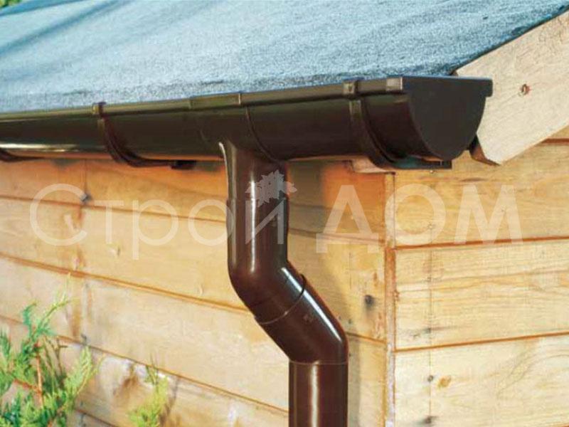 Монтаж водосточных систем для бытовок. Строительство в Московской области.