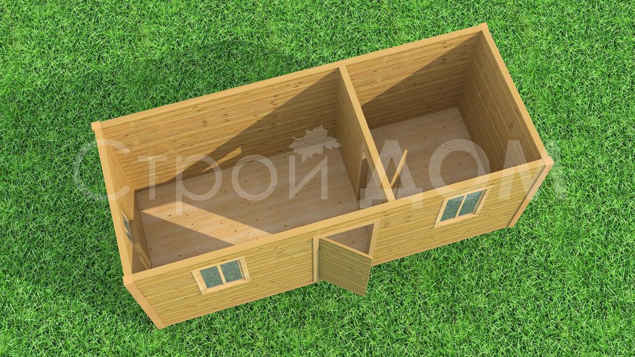 Бытовки деревянные в наличии и на заказ по низким ценам в Конаково.