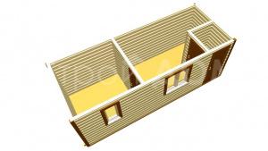 Планировка деревянных бытовок любой сложности. Бытовки недорого в Клину.