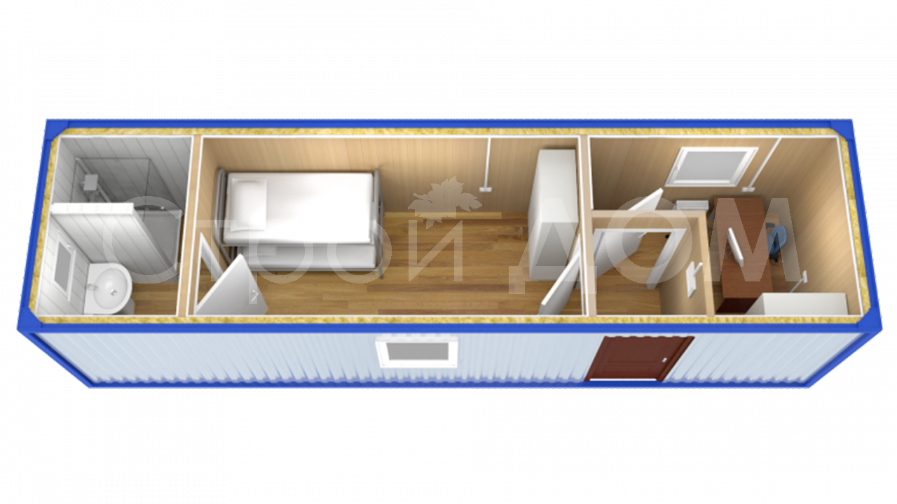 Блок-контейнер металлический с доставкой по Московской области от производителя в Клину.