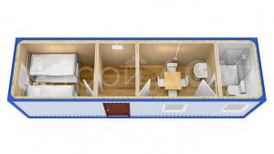 Блок-модуль железный для дачи недорого. Собственное производство в Клину.