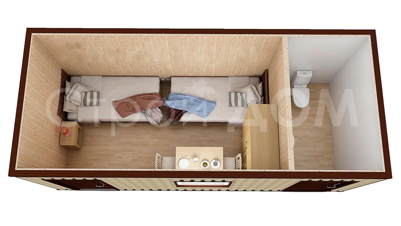 Блок-контейнер любой планировки с доставкой в Московская область недорого.