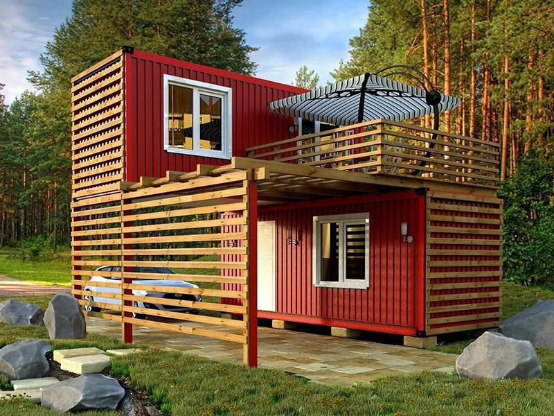 Дачный дом из блок-контейнеров. Профессиональные строители в Клину. Быстро и недорого!